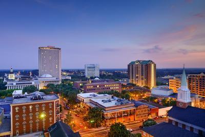 Tallahassee, Florida, USA Downtown Skyline.-SeanPavonePhoto-Photographic Print