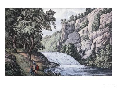 Tallulah Falls, Georgia-Currier & Ives-Giclee Print