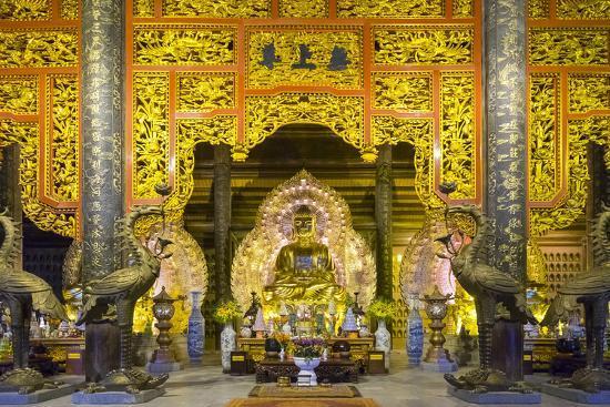 Tam the Hall at Bai Dinh Temple (Chua Bai Dinh), Gia Vien District, Ninh Binh Province, Vietnam-Jason Langley-Photographic Print