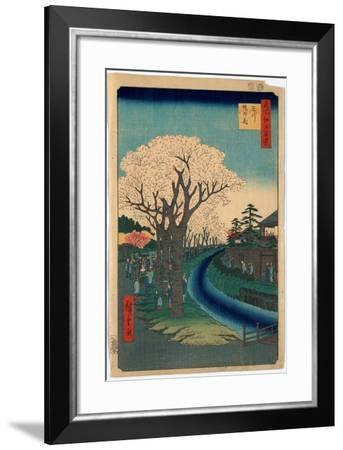 Tamagawa-Zutsumi No Hana-Utagawa Hiroshige-Framed Giclee Print