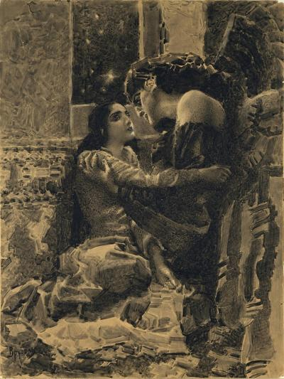 Tamara and Demon, 1890-1891-Mikhail Alexandrovich Vrubel-Giclee Print