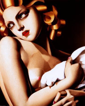 Femme a Colombe by Tamara de Lempicka