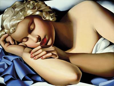 The Sleeping Girl (Kizette) I by Tamara de Lempicka