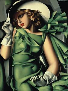 Young Lady with Gloves by Tamara de Lempicka