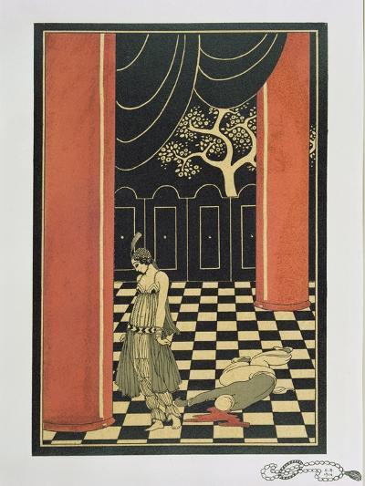 Tamara Karsavina (1885-1978) in Fokine's 'Thamar' in 1912, Pub. 1914-Georges Barbier-Giclee Print