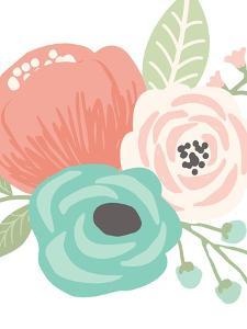 Pastel Floral Bouquet II by Tamara Robinson