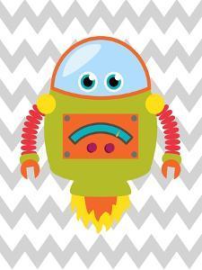 Robot Chevron 1 by Tamara Robinson