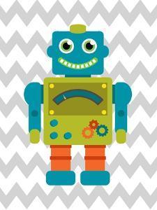 Robot Chevron 4 by Tamara Robinson
