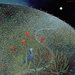 Blue Bird of Happiness, 1995 by Tamas Galambos