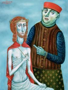 Christ before Pontius Pilate, 1985 by Tamas Galambos
