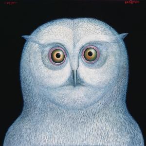 Great White Owl, 1996 by Tamas Galambos