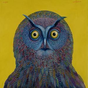 Long-Eared Owl, 1996 by Tamas Galambos