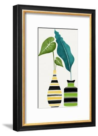 Tamed Tropicals-Modern Tropical-Framed Art Print