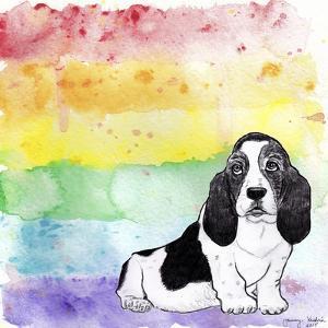 Rainbow Basset Hound by Tammy Kushnir