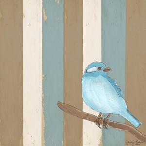 Teal Bird With Stripes by Tammy Kushnir