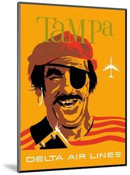 Tampa, Florida - Delta Air Lines - Pirate Buccaneer-John Hardy-Mounted Art Print