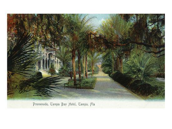 Tampa, Florida - Tampa Bay Hotel Exterior View from Promenade-Lantern Press-Art Print