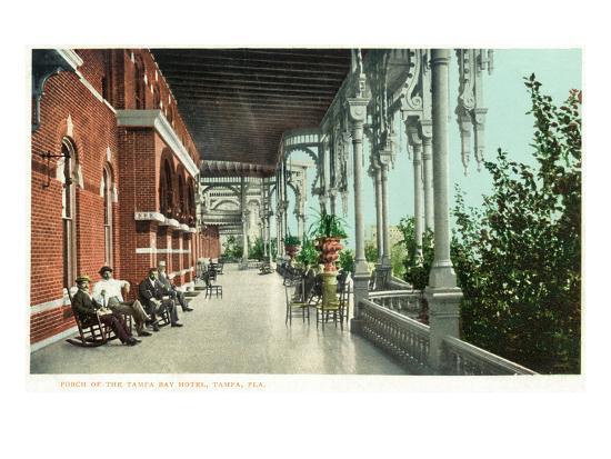 Tampa, Florida - Tampa Bay Hotel Porch Scene-Lantern Press-Art Print