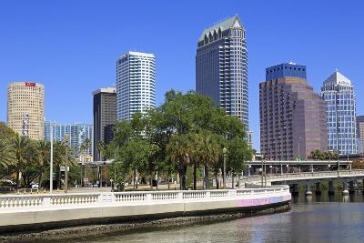 Tampa Skyline and Hillsborough River, Tampa, Florida, United States of America, North America-Richard Cummins-Photographic Print