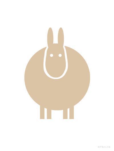 Tan Donkey-Avalisa-Art Print