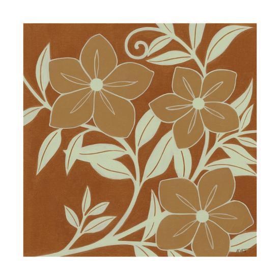 Tan Flowers with Mint Leaves I-Norman Wyatt, Jr^-Art Print