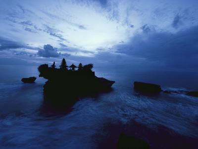 Tanah Lot Temple Stands Perched Atop a Rock in the Indian Ocean-Michael Nichols-Photographic Print