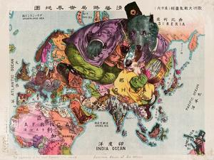Satirical Map - The Illustration of the Great European War by Tanaka Ryozo