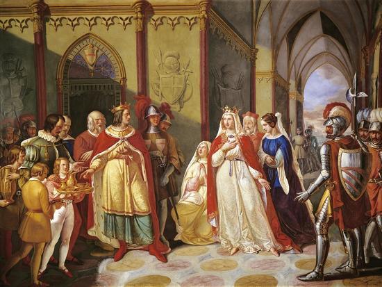 Tancred Sending Constance of Hauteville Back to Her Husband Henry IV-Gennaro Maldarelli-Giclee Print