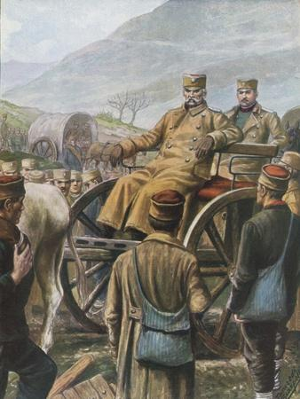 Serbian Army with their King Peter Moving Towards Durazzo