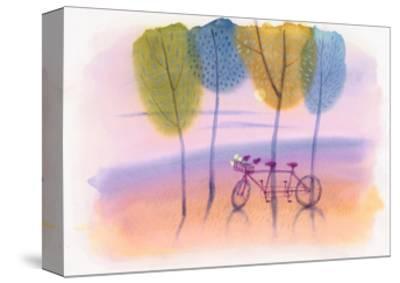 Tandem Bike in Trees