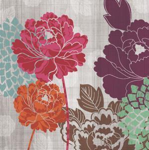 Peony Patterns I by Tandi Venter