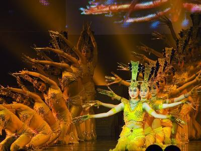 Tang Dynasty Dance and Music Show at the Sunshine Grand Theatre, Xian City, Shaanxi Province, China-Christian Kober-Photographic Print