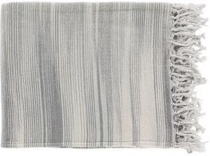 Tanga Throw - Charcoal/Ivory