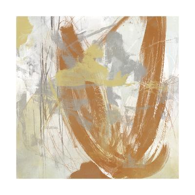 Tangerine & Grey III-June Erica Vess-Art Print