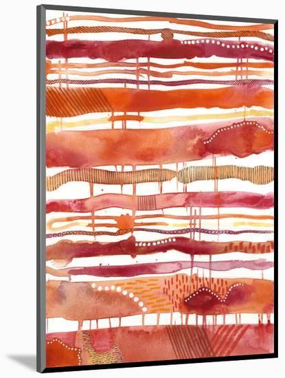 Tangerine Stripes I--Mounted Art Print