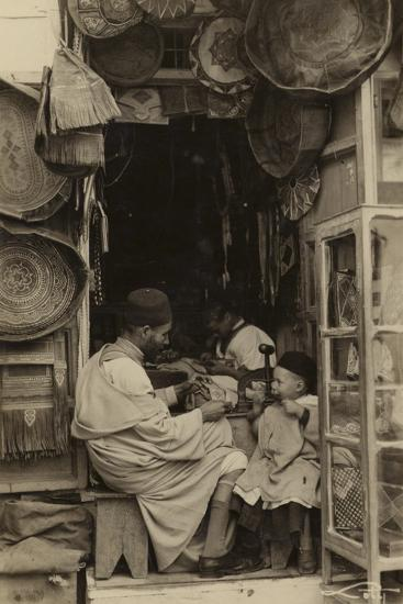 Tangiers - Taking Tips at a Bazaar in Morocco--Photographic Print