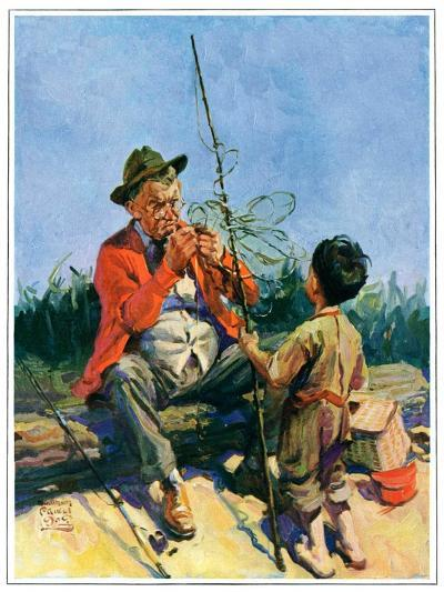 """""""Tangled Fishing Line,""""May 1, 1929-William Meade Prince-Giclee Print"""