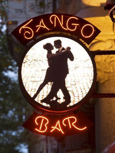 Tango Bar Sign, Buenos Aires, Argentina-Demetrio Carrasco-Photographic Print