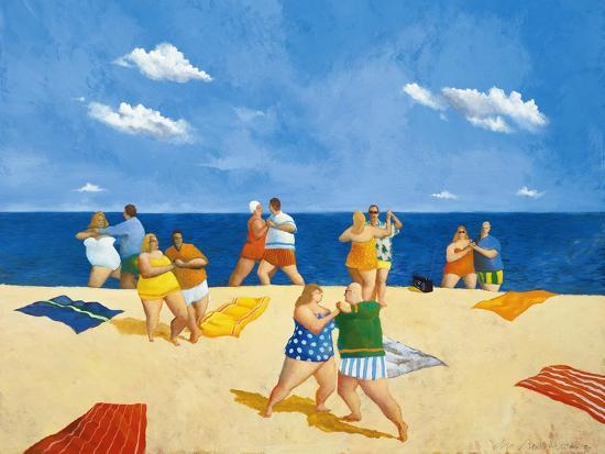 Tango Beach-Michael Paraskevas-Art Print