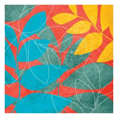 Tango Leaves 1-Kristin Emery-Art Print