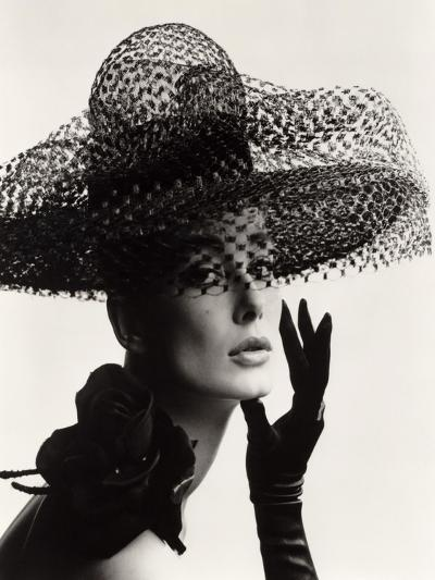 Tania Mallet in a Madame Paulette Stiffened Net Picture Hat, 1963-John French-Giclee Print
