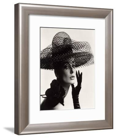 Tania Mallet in a Madame Paulette Stiffened Net Picture Hat, 1963-John French-Framed Giclee Print