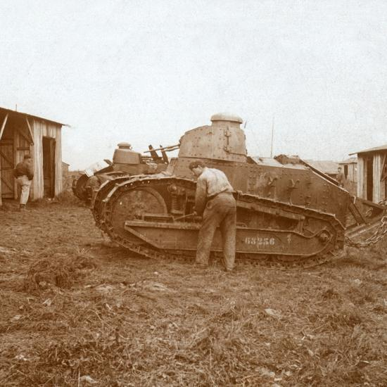 Tank maintenance, c1914-c1918-Unknown-Photographic Print