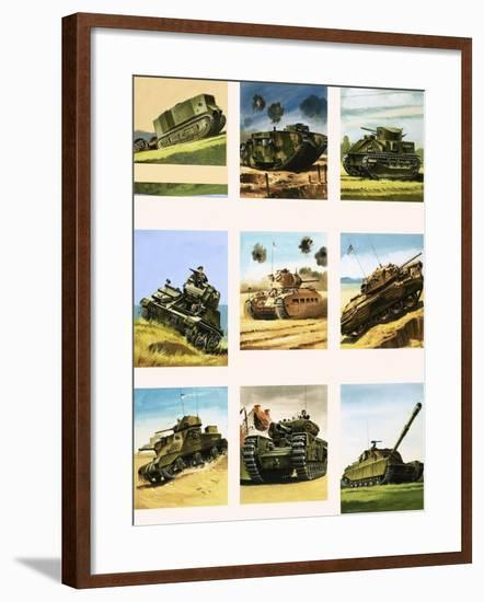 Tanks from the First and Second World Wars-Dan Escott-Framed Giclee Print