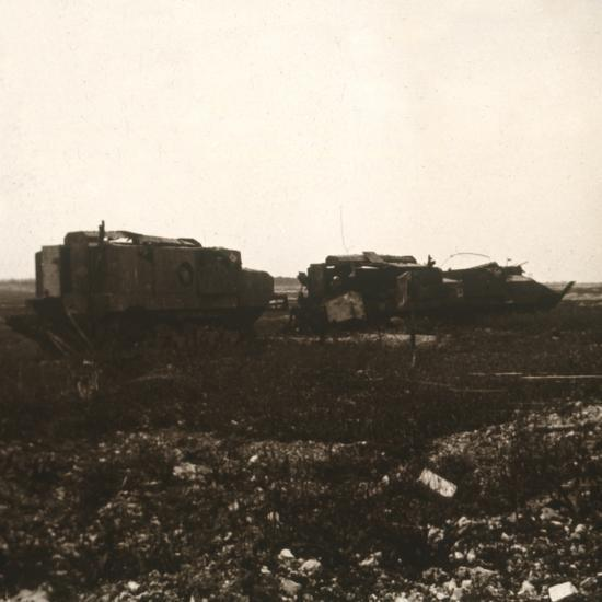 Tanks, Juvincourt, northern France, c1914-c1918-Unknown-Photographic Print