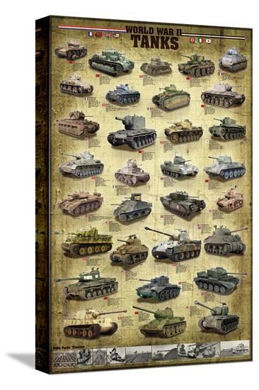 Tanks of WWII--Stretched Canvas Print