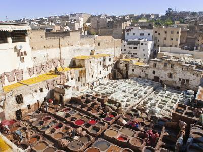 Tannery, Fez, UNESCO World Heritage Site, Morocco, North Africa, Africa-Marco Cristofori-Photographic Print