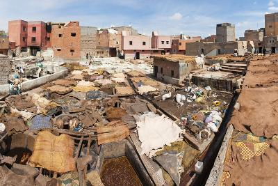 Tannery in Old Medina, Marrakech, Morocco, North Africa, Africa-Matthew Williams-Ellis-Photographic Print