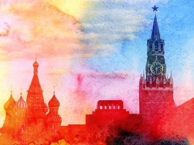Moscow Kremlin, Lenin Mausoleum and St Basils Cathedral Photographed close Up