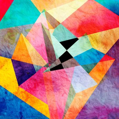 Abstract Watercolor Geometric Background by tanor27